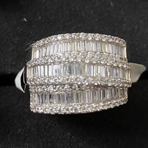 5.94 CTW Sterling Silver with Rhodium over.